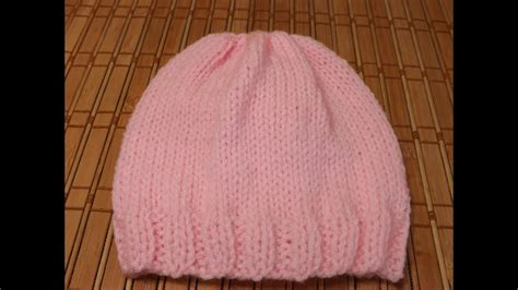 How to Knit A New Born Baby's Hat For Beginners - YouTube