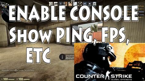 CSGO Enabling Console, Show PING, FPS, ETC - YouTube