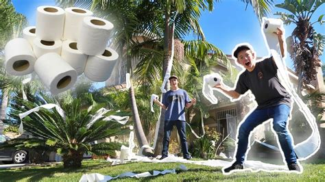 TOILET PAPERING FAZE RUG'S HOUSE! *CHASED DOWN BY PARENTS
