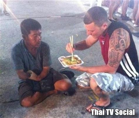 Another foreigner photographed helping a beggar – Richard