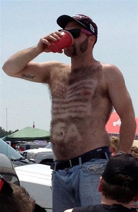 Patriotic Chest Hair - Let's Hear it for Red White and