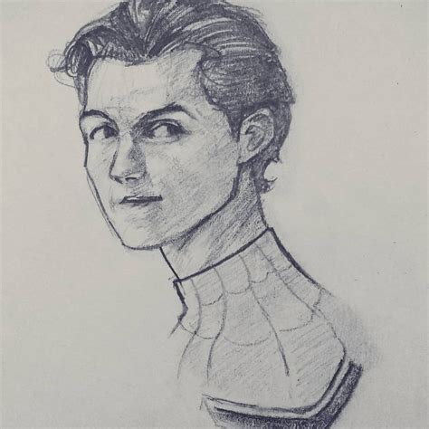 Tom Holland as Spiderman #Art made by Mexican artist