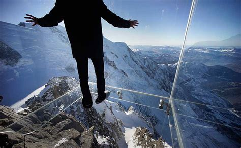 Glass Box On The Top Of Mont Blanc Opens Up A 3,396 ft Of
