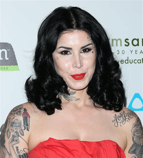 Kat Von D wore the most amazing latex catsuit to announce