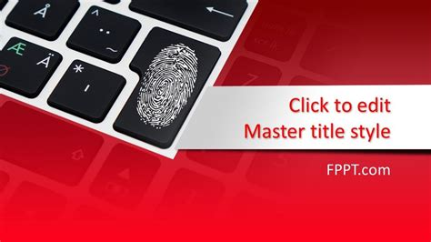 Free Digital Security PowerPoint Template - Free