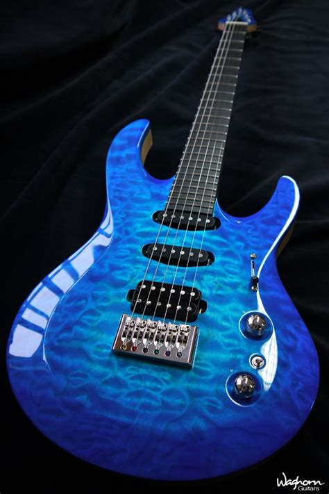 Waghorn Kronos custom electric guitar, Quilted Maple top