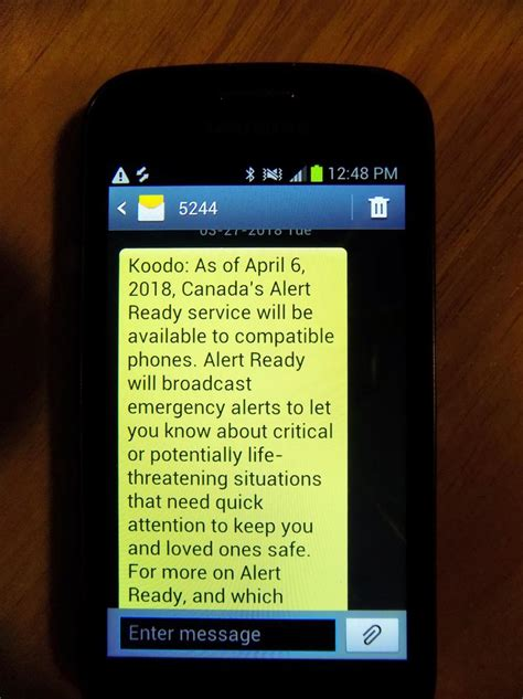 Emergency alerts come to Canadian mobile phones | WBFO