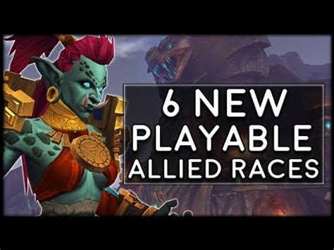 Allied Races Bring 6 NEW PLAYABLE RACES To World of War