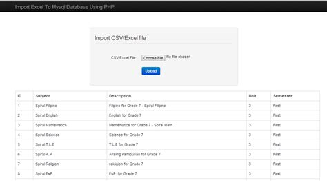 How to Import Excel/CSV file to MySQL Database Using PHP